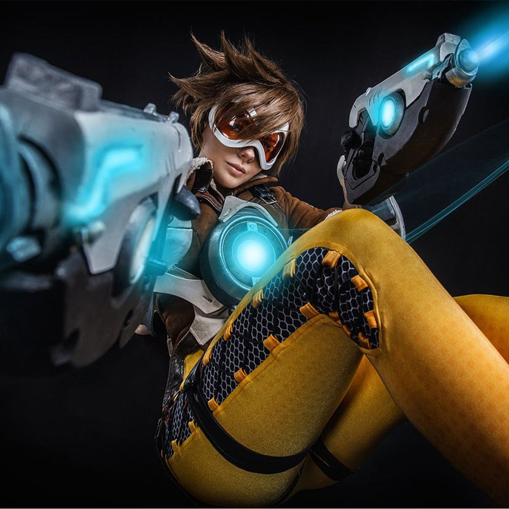 Image of FENIX.FATALIST OVERWATCH TRACER COSPLAY PRINT POSTER # 1
