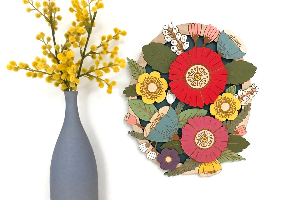 Image of Wild Flowers in Summer - Wall Design