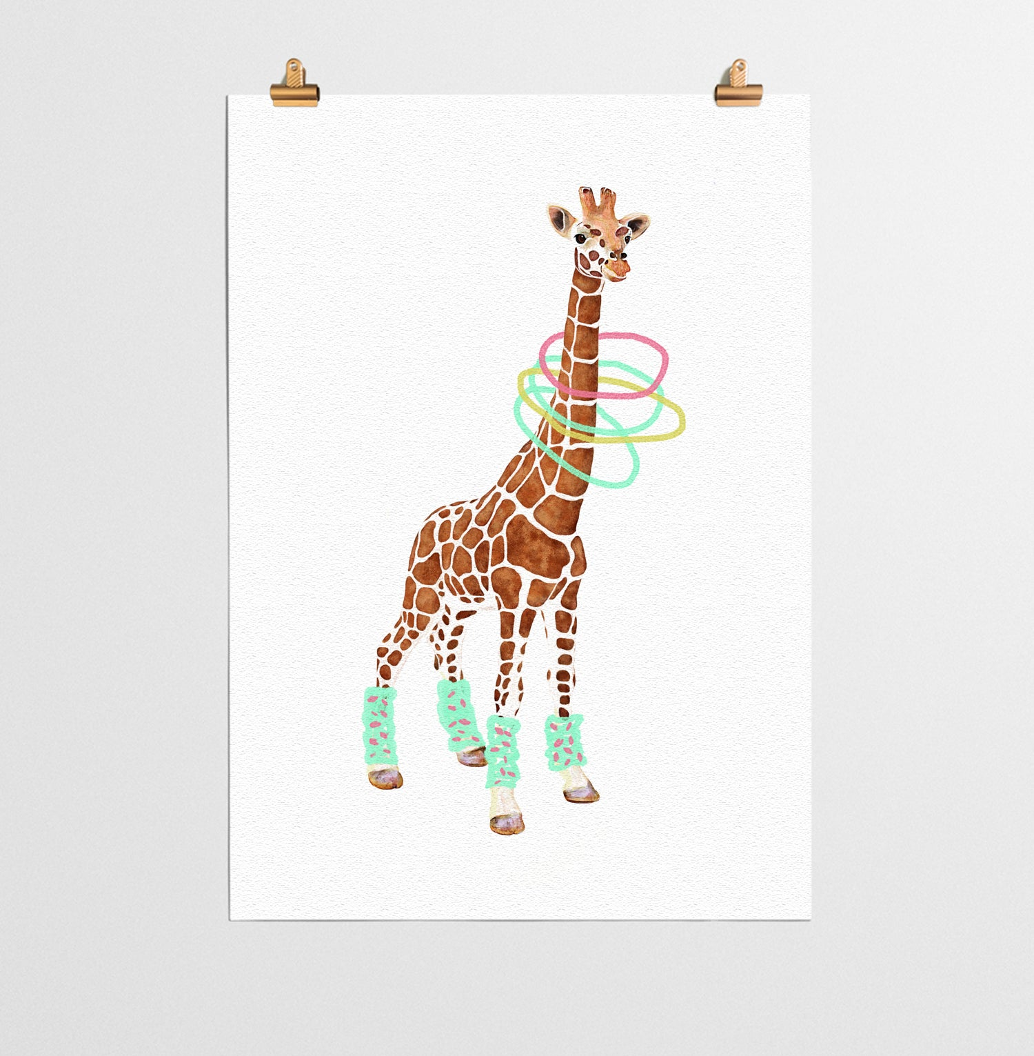 giraffe animal nursery print you and me prints