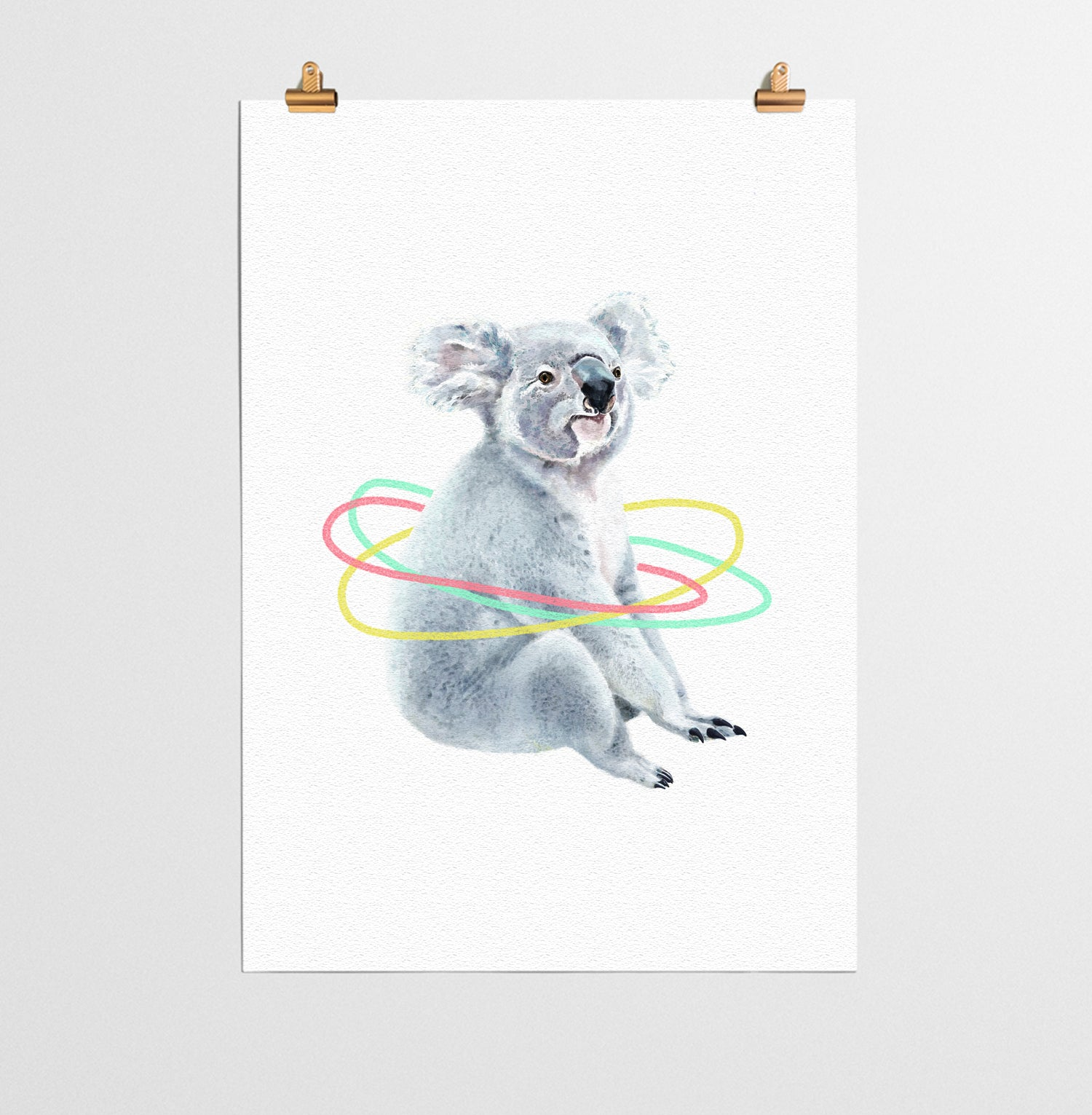 koala animal nursery print you and me prints