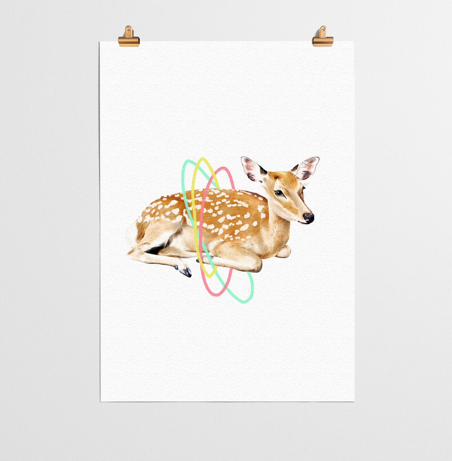 deer animal nursery print you and me prints