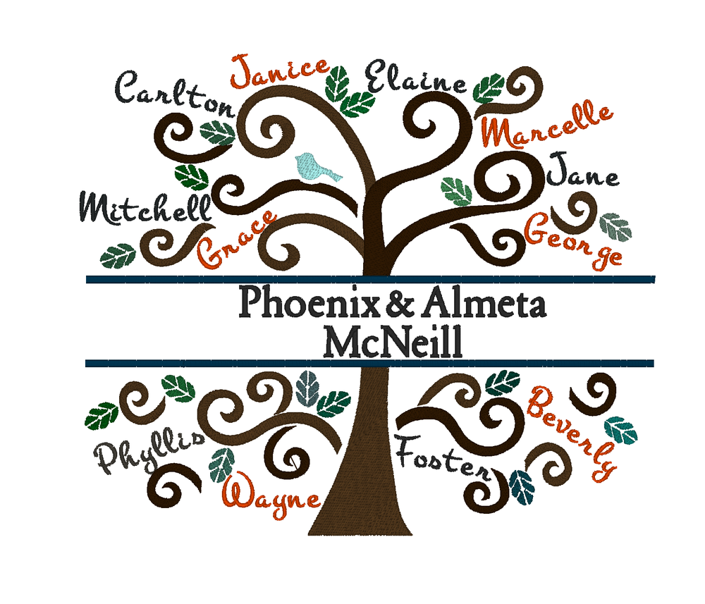 Image of Custom Family Tree Pillow or Wall Art