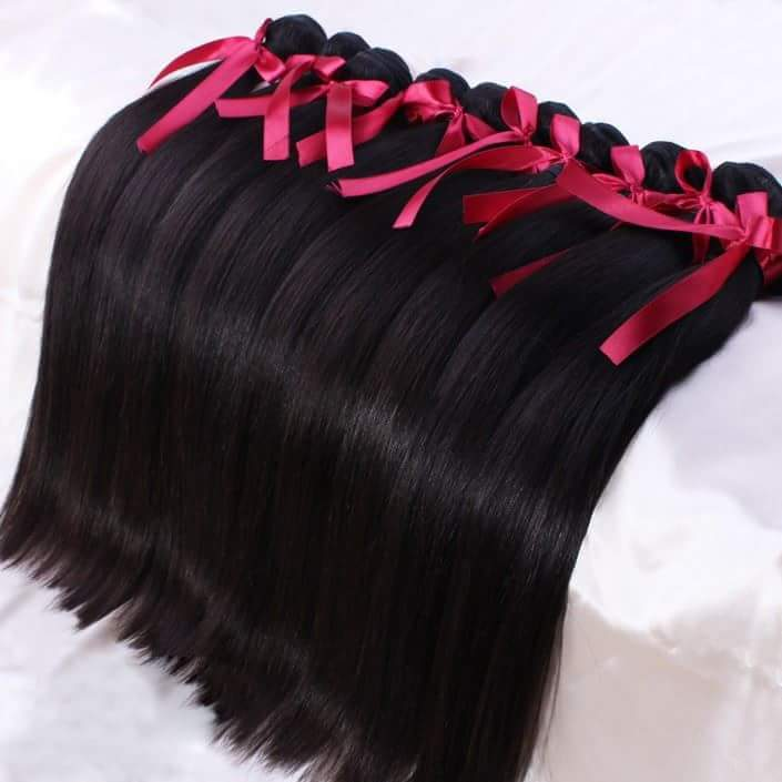 "Image of Silky-Satin "" Bone Straight"" Hair"