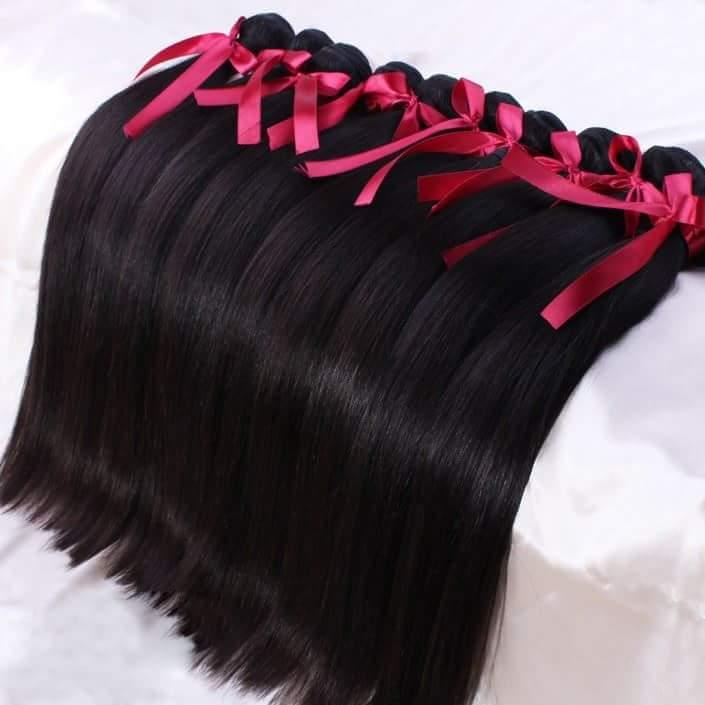 "Image of Silky-Satin "" Bone Straight"" Hair"