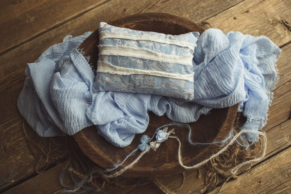 Image of Periwinkle Set - Pillow, Wrap, & Tieback
