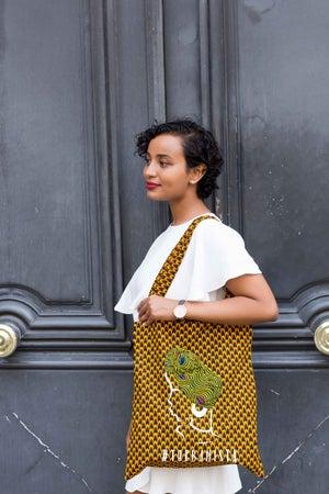 Image of Tote Bag Ecaille Turbanista