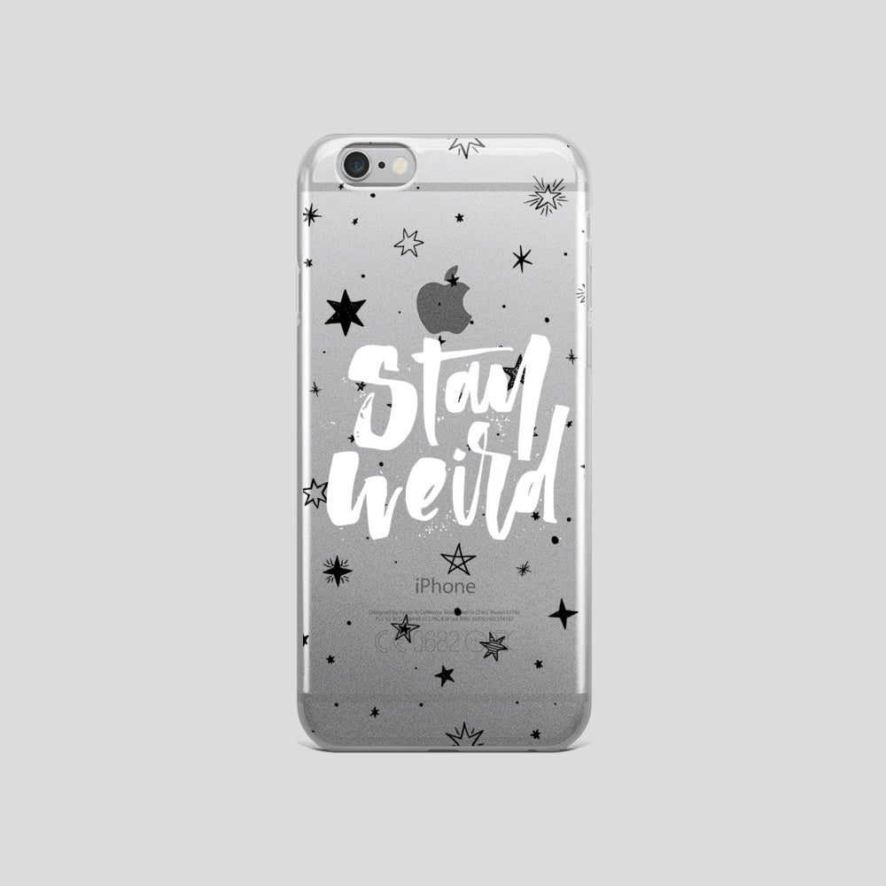 Image of Stay Weird Clear iphone Case