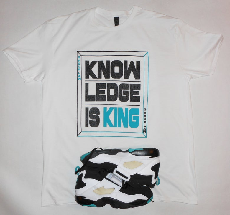 Image of KNOWLEDGE IS KING MEN'S T-SHIRT