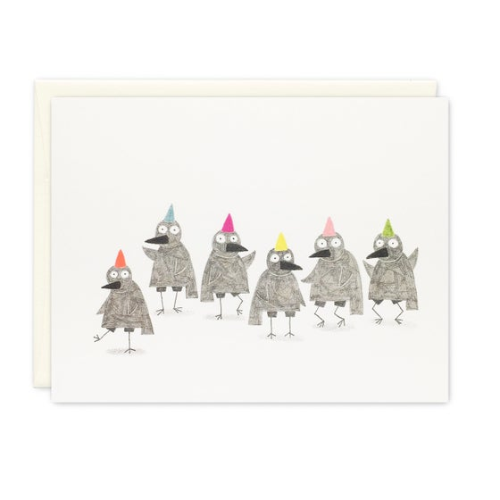 Image of Crow party card