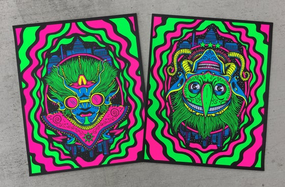 "Image of ""Space Captain"" & ""Space Jester"" art prints"