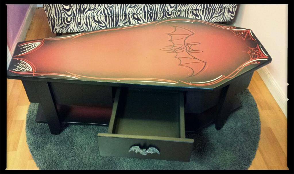 Image of Bat Coffin Coffee Table