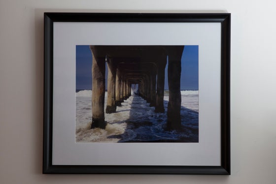 """Image of Under the Pier 16x20"""" Framed Print"""
