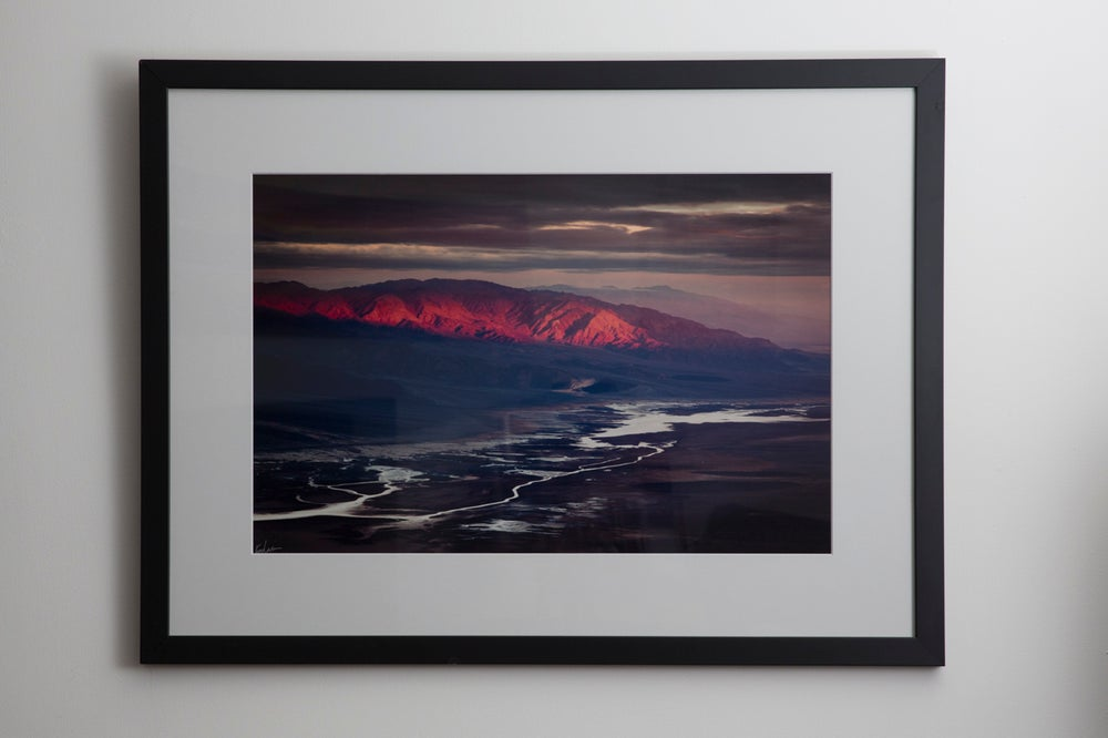 "Image of Sunrise Spotlight at Dante's View, 16x24"" Framed Print"