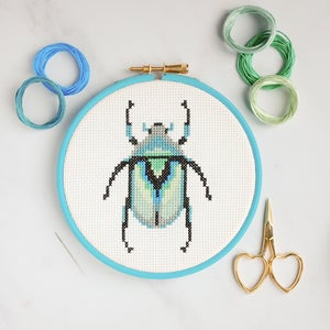 Image of Grey Beetle cross-stitch kit