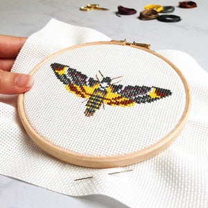Image of Dark Moth cross-stitch kit