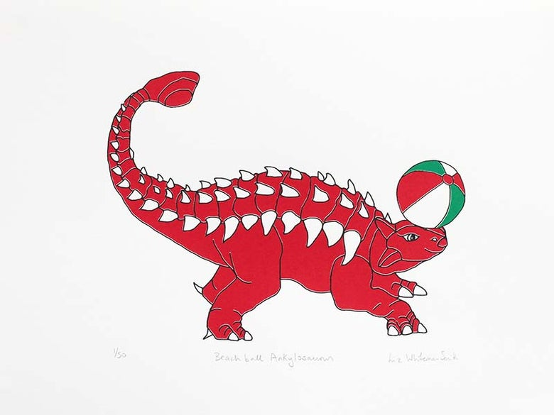 Image of Beach ball Ankylosaurus