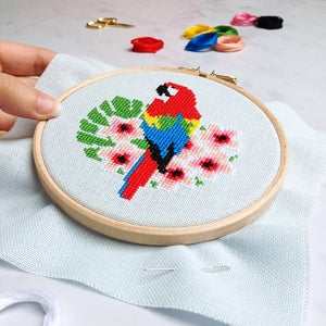 Image of Macaw cross-stitch kit