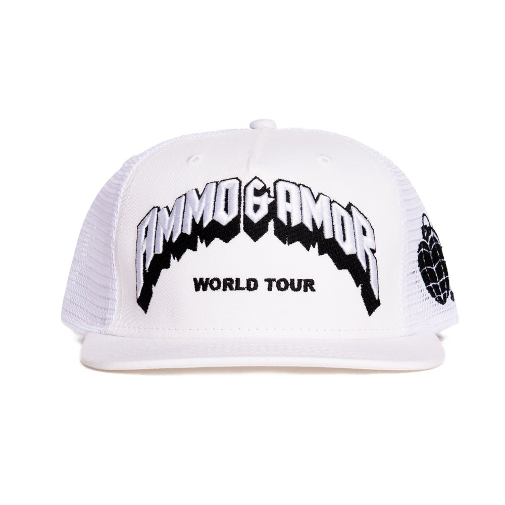 Image of World Tour Mesh Snapback White