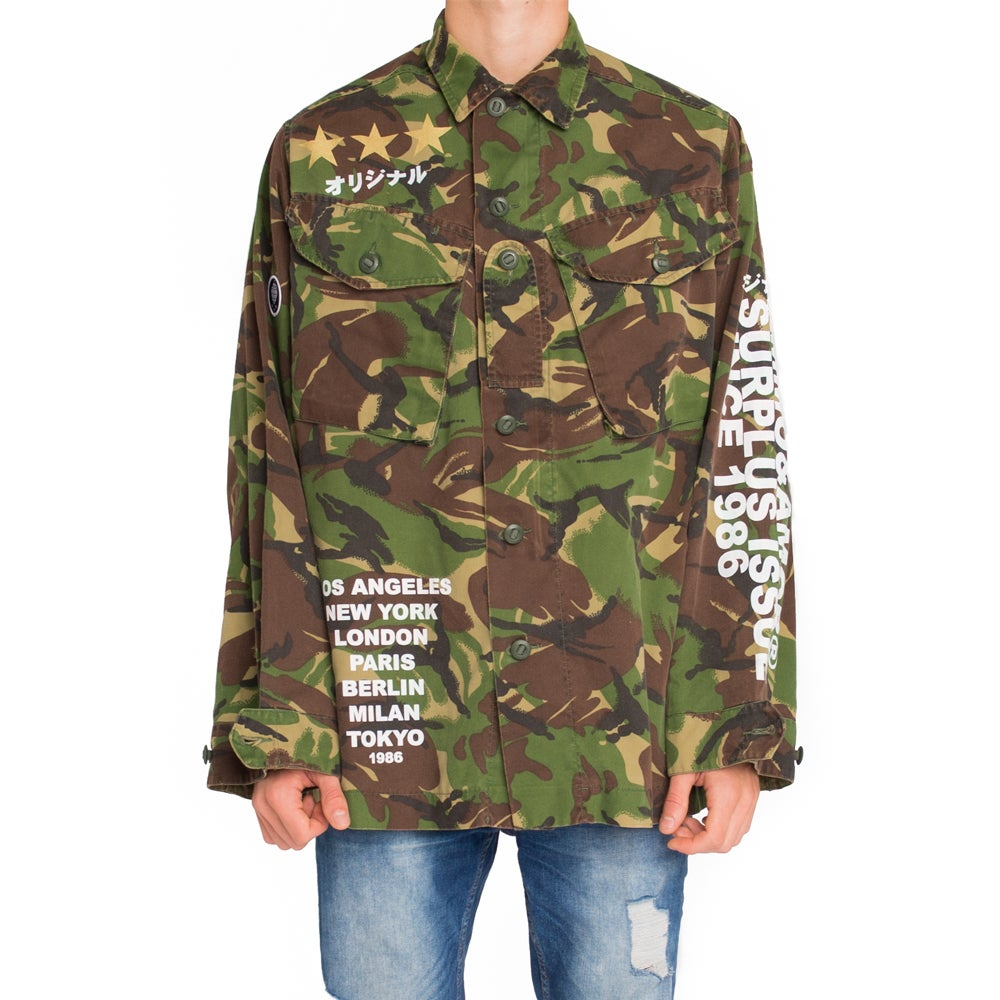 Image of World Tour Shirt Jacket Forest Camo