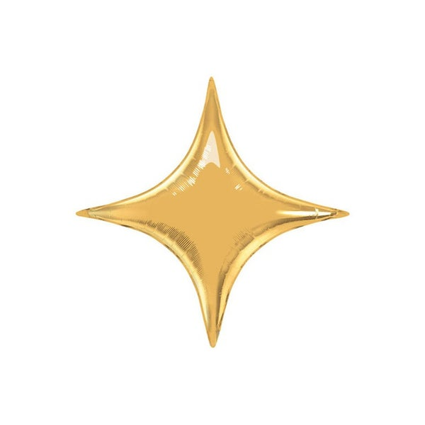 Image of Gold Starpoint Balloon - large