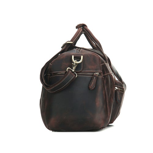 Image of Super Large Genuine Leather Travel Bag, Duffle Bag 1098