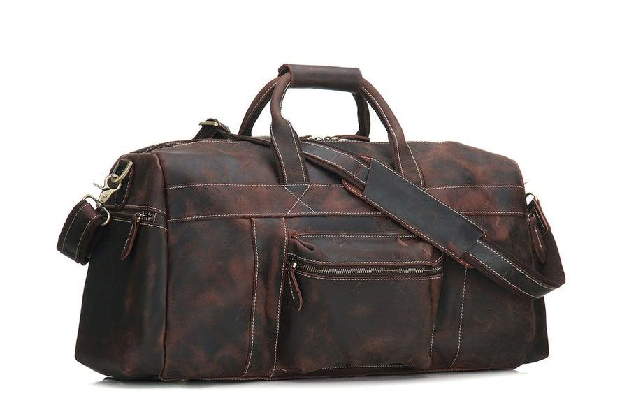 Image of Super Large Genuine Leather Travel Bag, Duffle Bag 1098