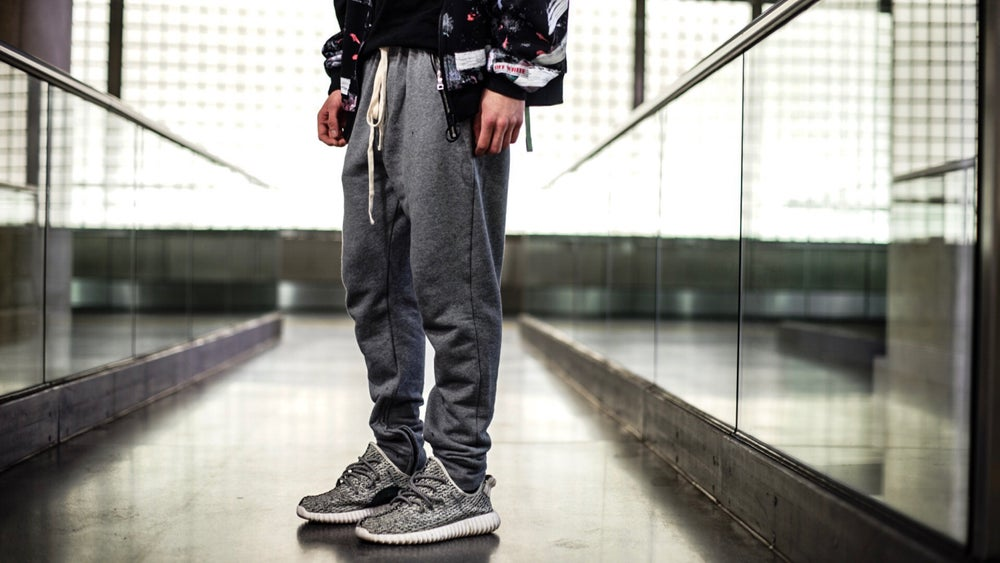 Image of Grey Zip Up Jogger
