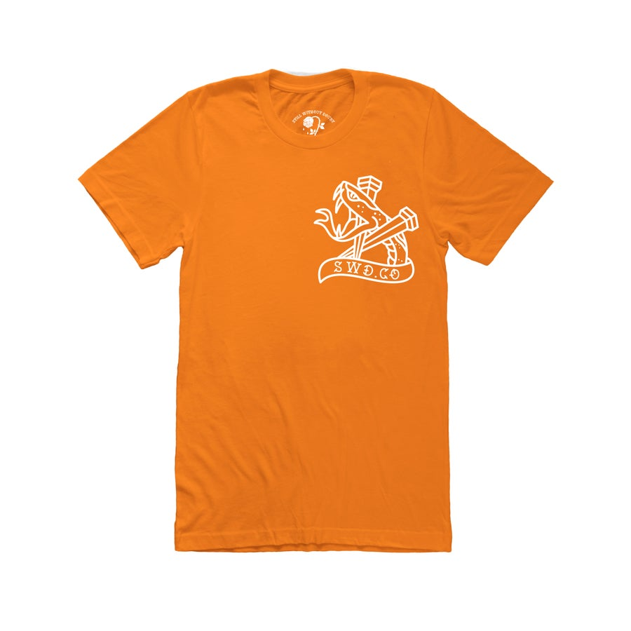 Image of Hard Luck Tee In Orange