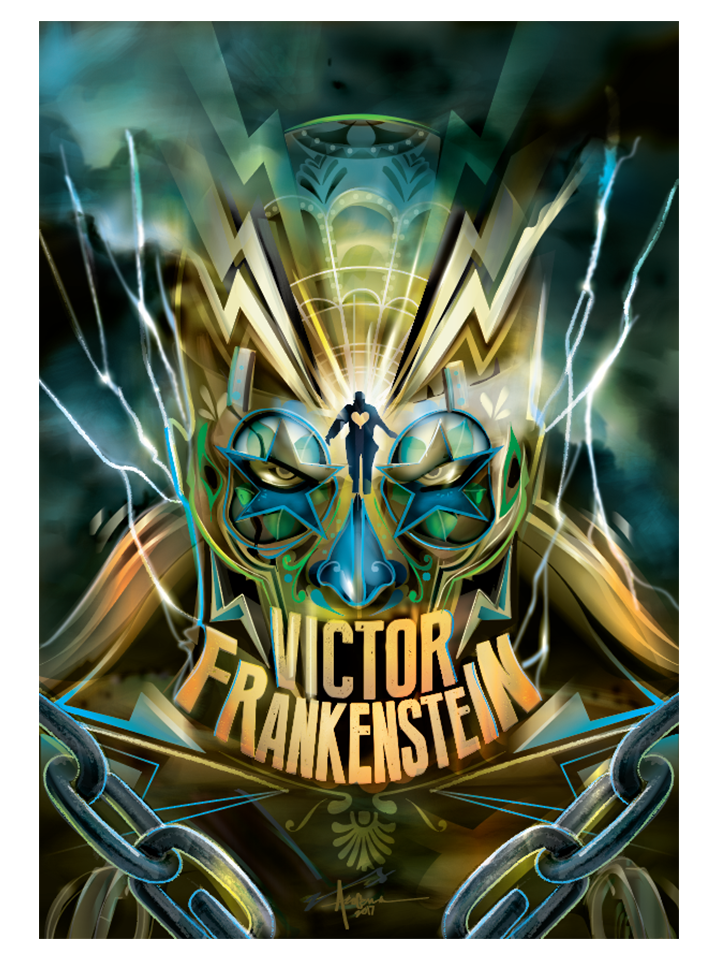 "Image of Victor Frankenstein - 18""x24""- Edition of 15 - 2017"