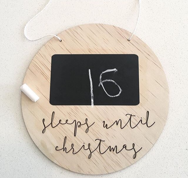 Image of CHALKBOARD CHRISTMAS COUNTDOWN