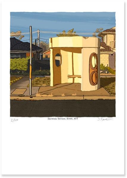 Image of Darwinia Terrace, Rivett, digital print