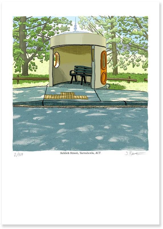 Image of Schlich Street, Yarralumla, digital print