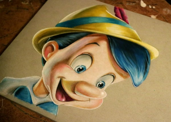 Image of Pinocchio original drawing