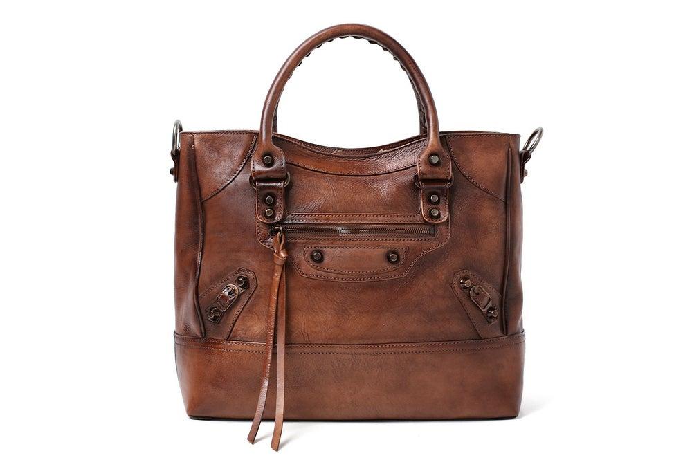 Image of Handmade Full Grain Leather Handbag, Designer Handbag, Women Handbag DT225