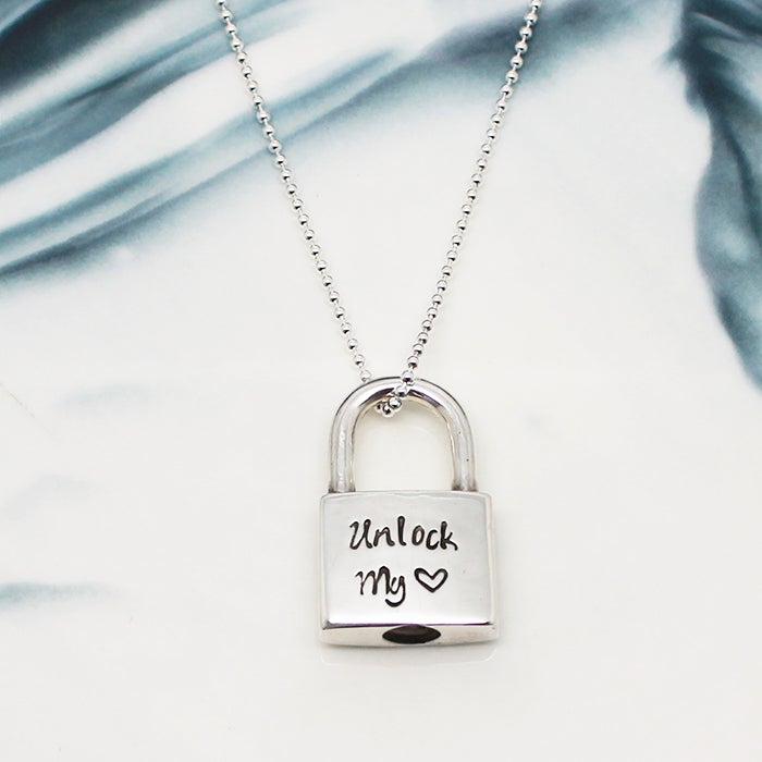 Image of Personalised Padlock Necklace