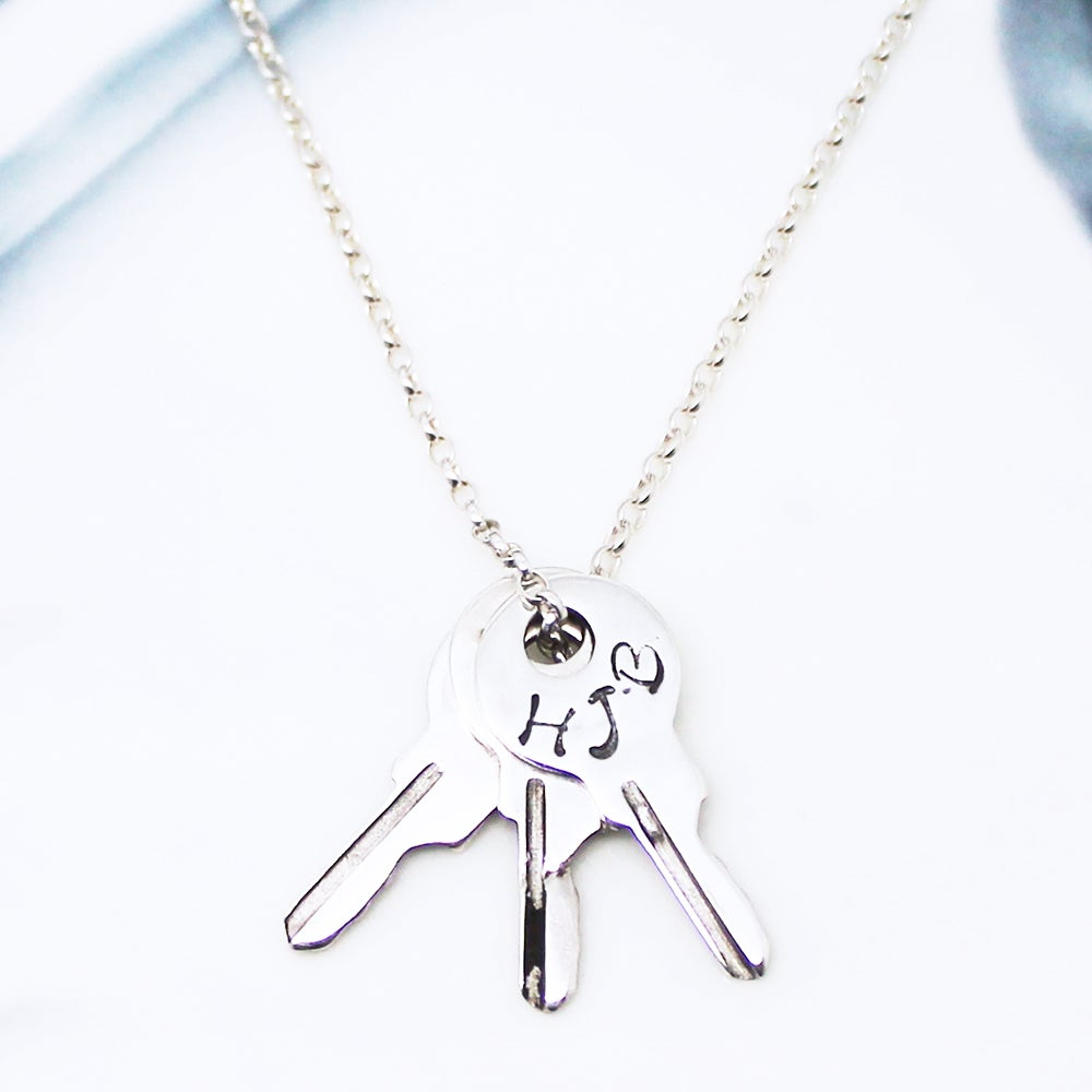 Image of Personalised Keys Charms Necklace