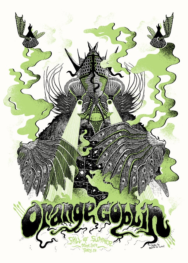 Image of ORANGE GOBLIN (Fall Of Summer 2017) screenprinted poster
