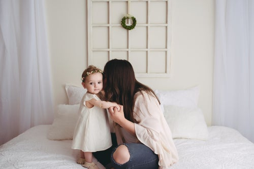 Image of Donuts & Jammies {or} Classic Neutral Petite Family Snuggle Sessions