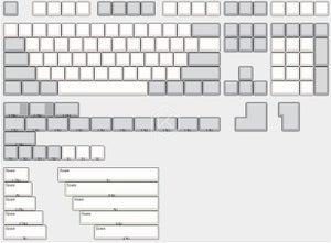 Image of XDA PBT Blank Keyset (ISO & ANSI)