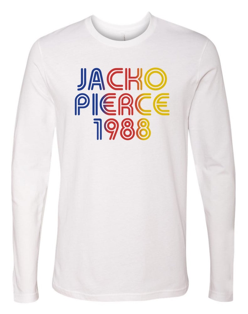 Image of Jackopierce 1988 - Men's/Unisex Cotton - White L/S Crew