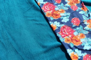 Image of Jersey Velour - Teal