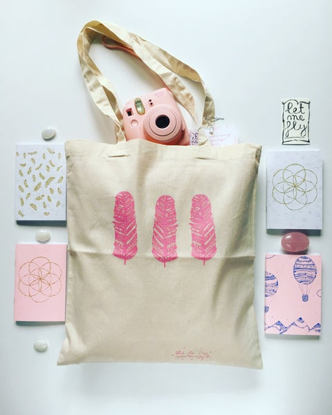 Image of Tote bag *trio of feathers*