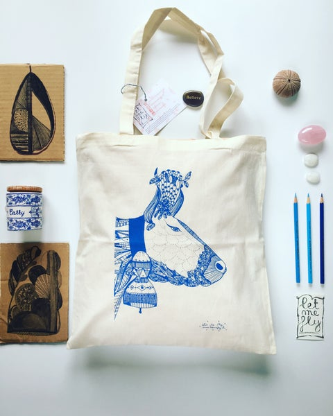 Image of Tote bag *cow*