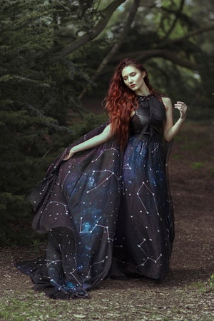 Image of Galaxy Constellations Print Maxi Skirt