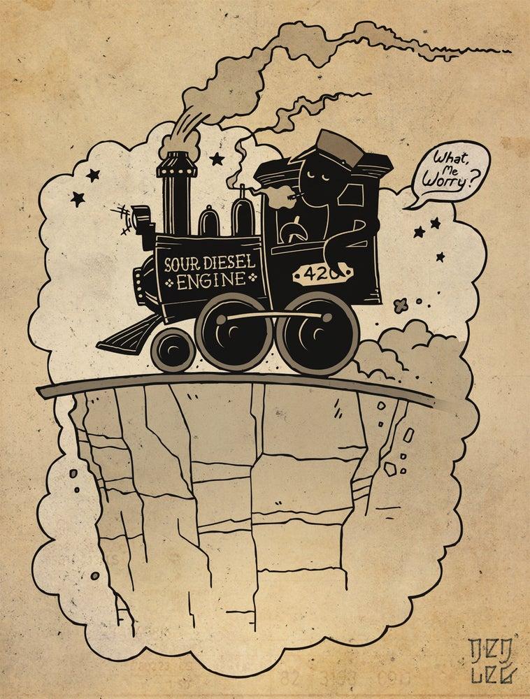 Image of Sour Diesel Engine 6x8 Print