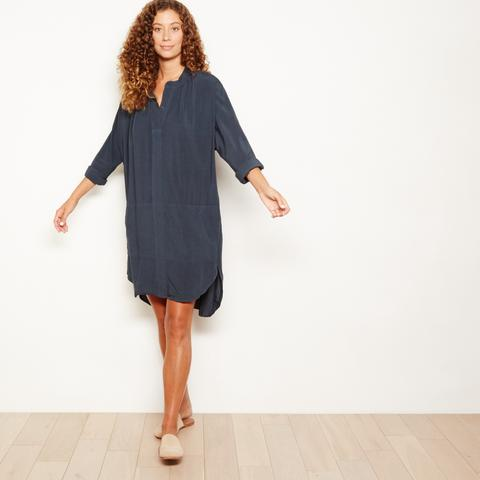 Image of The Odells Hi-Low Dress in Faded Black