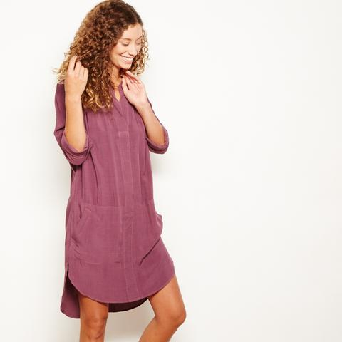 Image of The Odells Hi-Low Dress in Mulberry