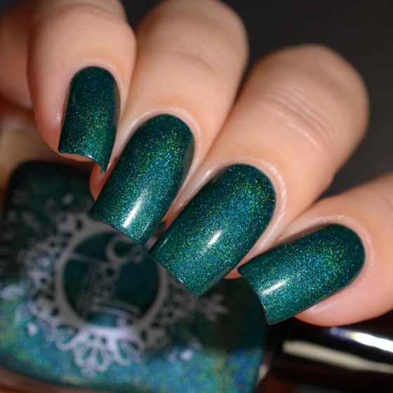 Image of ~Magnificent Palace~ jade blue-green linear holo w/subtle aqua-blue shimmer!