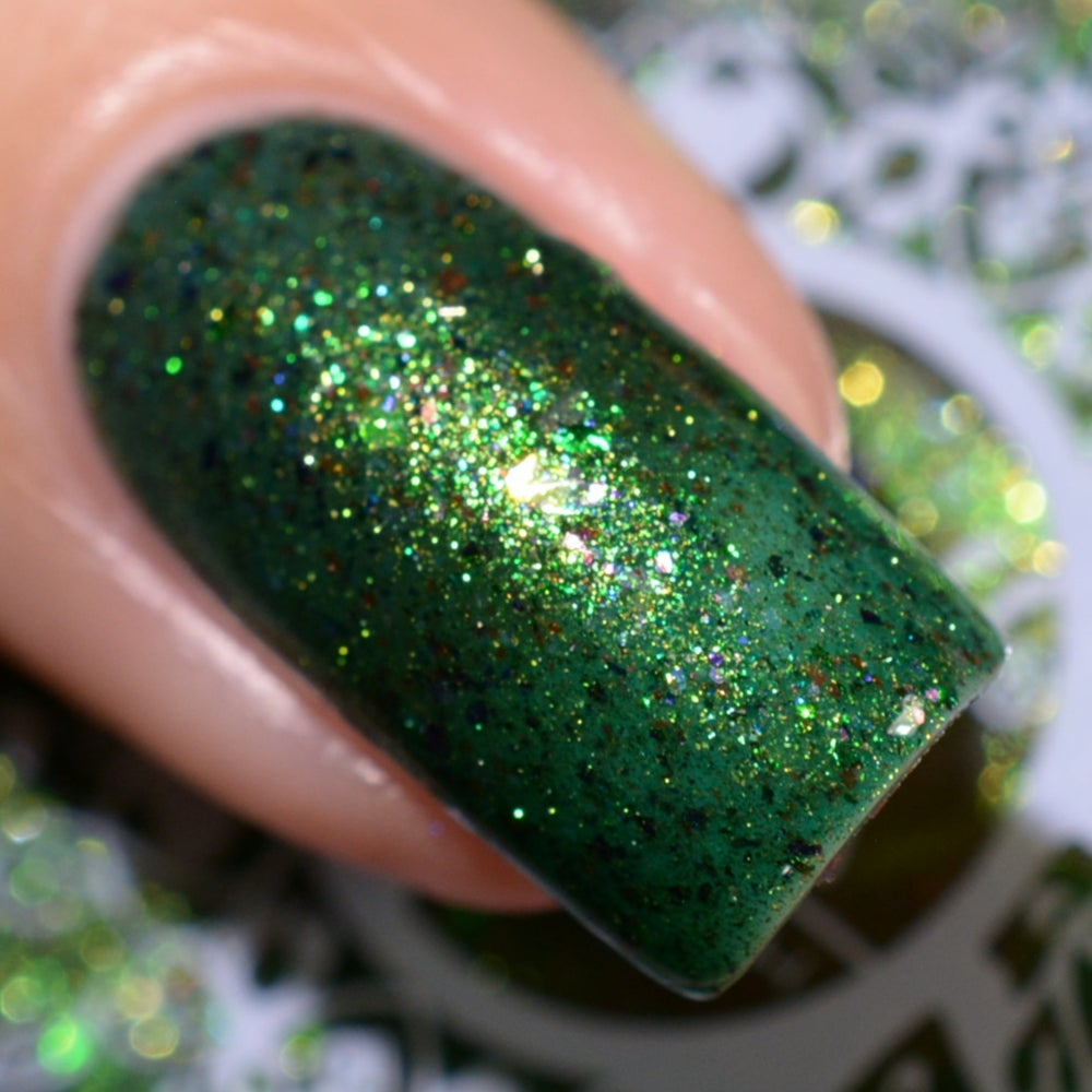 Image of ~Perilous Prince~ is a teal green jelly w/opal, green & purple multichrome flakes!