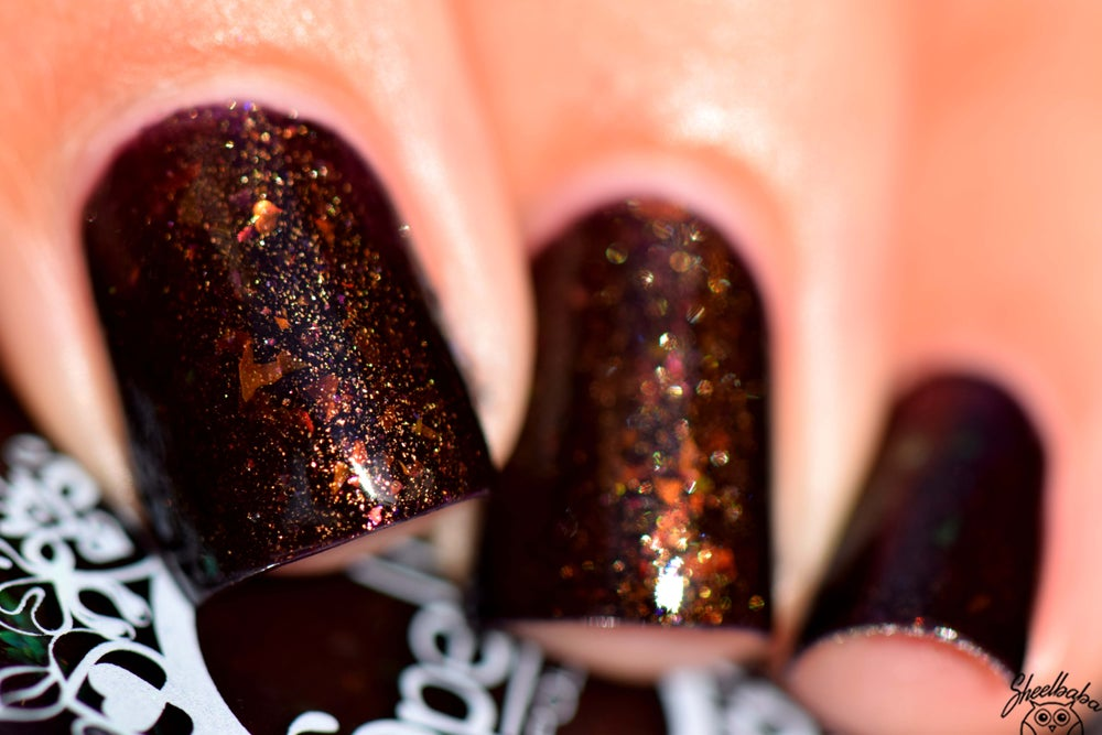 Image of ~Skeleton Key~ deep plum jelly w/gold shimmer & opal and multichrome flakes!